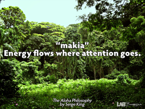 "The Aloha Philosophy by Serge King 3. ""makia"" Energy flows where attention goes. ( content remix series by LukasBryson @ LAB7media 