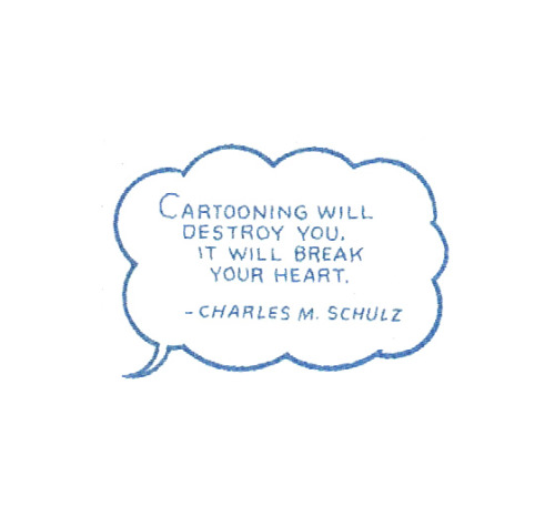 heyoscarwilde:  quote by Charles M. Schulz :: illustration by Chris Ware :: scanned from The Acme Novelty Library Annual Report to Shareholders :: Pantheon :: 2005