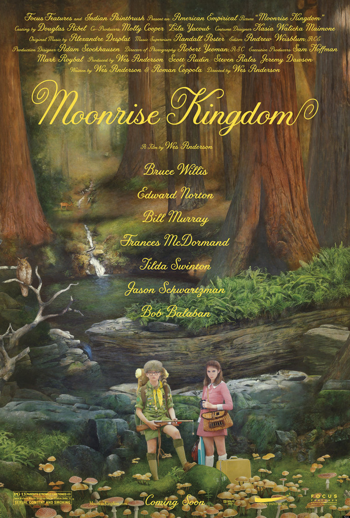 Wes Anderson's MOONRISE KINGDOM has a poster and it's pretty and great.