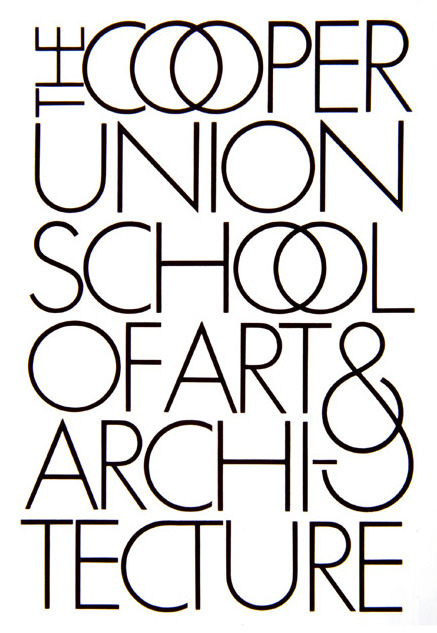 by Herb Lubalin for Cooper Union