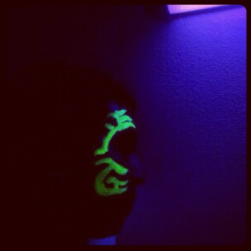 Glow in the dark party (Taken with instagram)