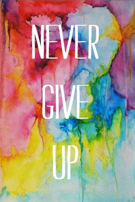 """Never give up."" giving up is worse than failure"