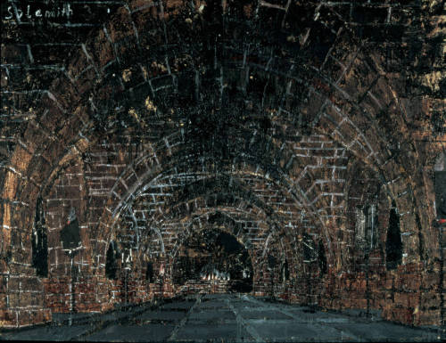 i12bent:  Anselm Kiefer: Shulamite [Sulamith], 1983 - Oil, emulsion, woodcut, shellac, acrylic, and straw on canvas (Doris and Donald Fisher Collection at SFMOMA) One of many Kiefer canvases to reference Paul Celan's Todesfuge… dein goldenes Haar Margaretedein aschenes Haar Shulamith — Paul Celan