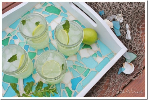 get-crafty:  DIY Sea Glass Tray