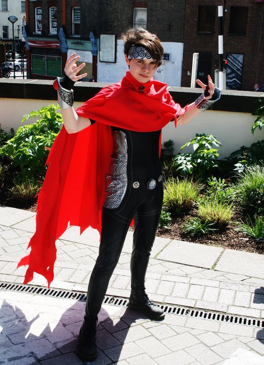 Co-founder Holly as Wiccan from the Young Avengers