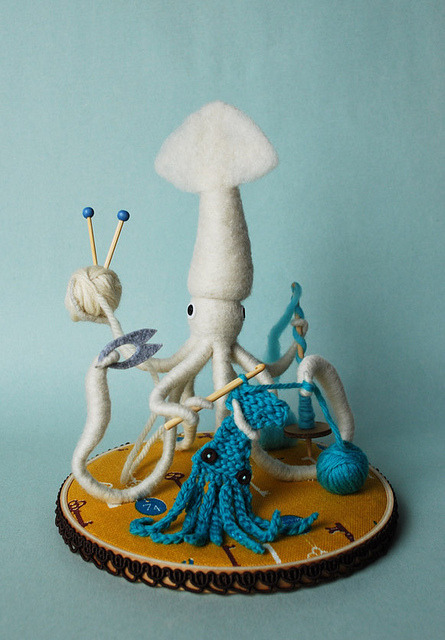 Mr. White Squid, A Very Handy Crafter, Single by hine on Flickr.