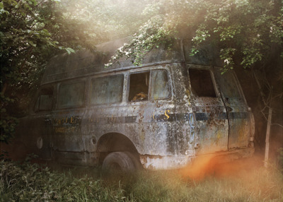 'Designed in Hackney: an exhibition of photographs depicting abandoned vehicles and derelict buildings by Hackney-based photographer Katja Mayer and graphic artist Peter Chadwick…' Source: http://www.dezeen.com