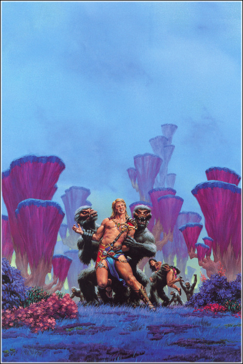 Cover art for Edgar Rive Burroughs' Lost on Venusby Richard Hescox