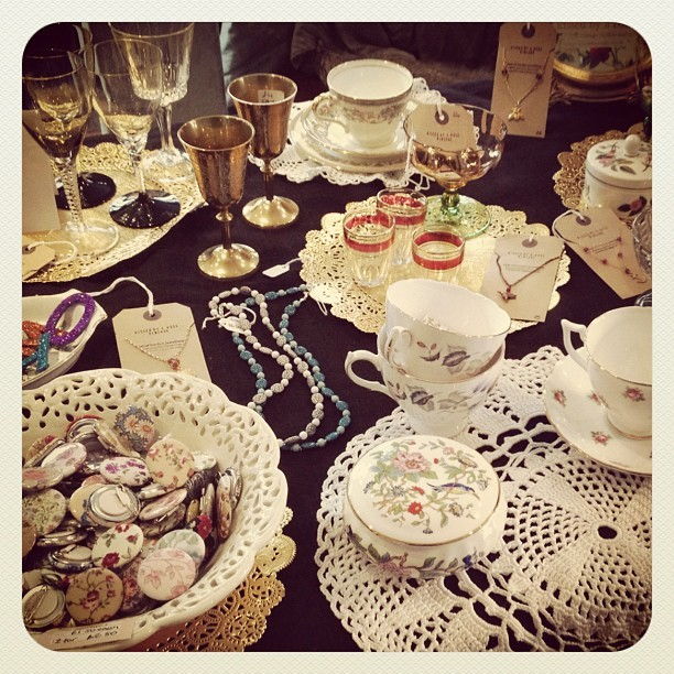 Kissedbyarose #vintage homewares and jewellery  (Taken with instagram)