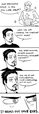 mechinism:  he's flattered you noticed, tony