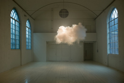 enochliew:  Nimbus II by Berndnaut Smilde Done with a smoke machine and carefully monitoring the room's humidity and atmosphere, similar to Cloudscape at the 2010 Venice Architecture Biennale.