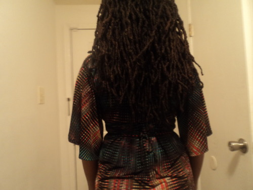 howaboutluv:  March 8, 2012 My hair is almost waist length. I have layers, but the very back is at the longest its ever been.  I am heading down the path of juju medicine woman.  Gonna need a trim soon.   Love my locs, but I don't think obiah woman stylee is my thing.