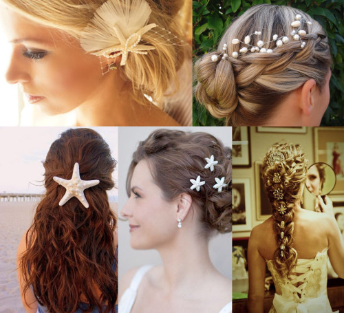 disneyfoodtravel:  Little Mermaid Wedding Hair Inspirations