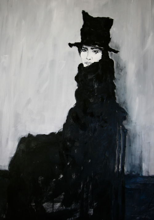 "Sam Malpass ""Top Hat"" 4x2ft Acrylic on Canvas 2012"