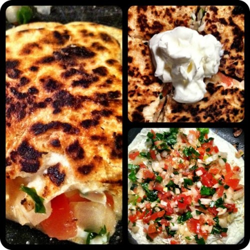 mmm #homemade #quesadilla #mexicanfood #skillz (Taken with instagram)