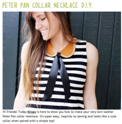 feedyourwonderland:  How To; Peter Pan Collar Necklace.