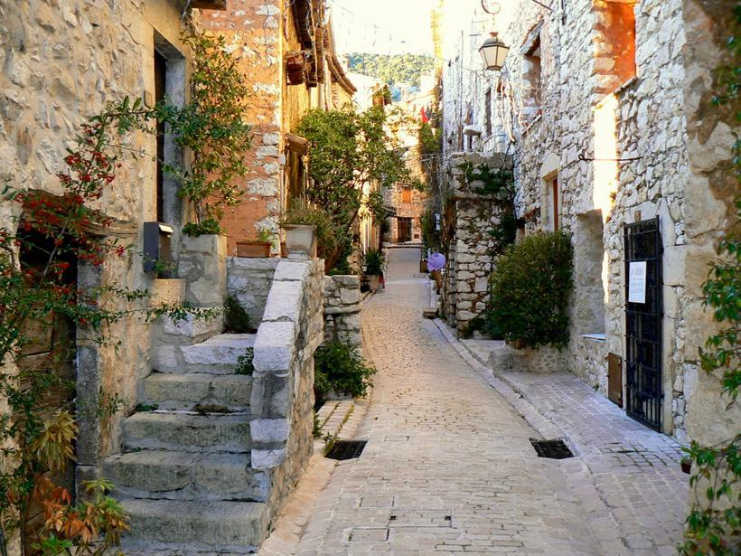 | ♕ |  Main street of Tourettes, Provence  | via ysvoice