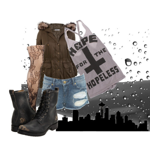 Seattle Grunge by forever-inspired featuring lace up boots