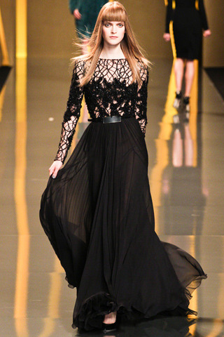 Elie Saab Fall RTW 2012 Model: Mirte Maas