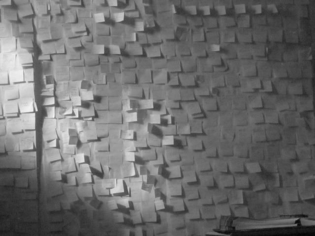 Post-It Prayers by Leilani Marion, a student at the Tiziano Project South Los Angeles