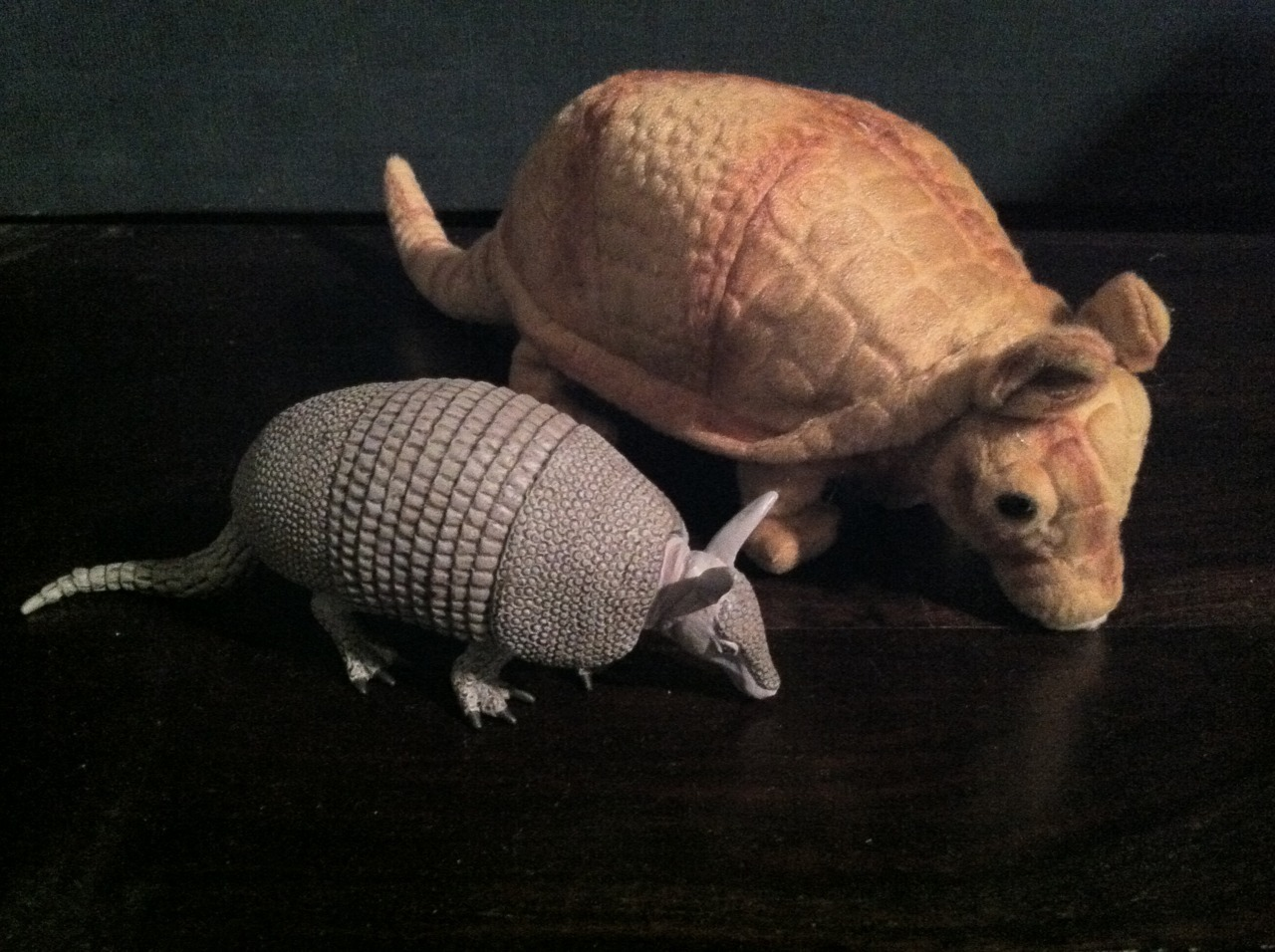 You can find us any Friday by finding these armadillos (at Mozart's). The prior armadillo(s) shattered if dropped, and I dropped them. I got these instead. They'll do just fine. Also feel free to bring your own anytime. For background, see here; here; and here.