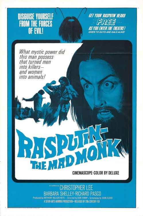 One sheet for Rasputin The Mad Monk (1966)