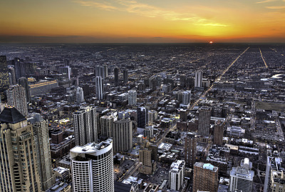 """Pic of the Day"" — ""Sunset Viewed From Hancock"" by clarsonx Do you have a Chicago-related photo you think is worthy of being our ""Pic of the Day""? Submit it!"