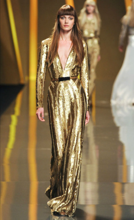 Liquid gold deliciousness. ELIE SAAB Fall 2012 RTW, Paris Fashion Week.