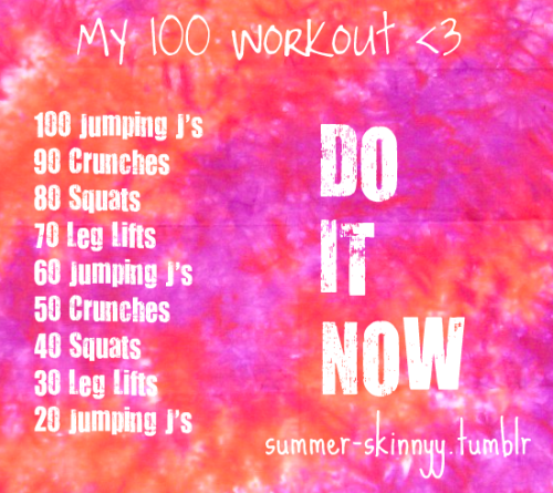 jesssydreams:  summer-skinnyy:  Burns 300 Calories! *I did not include the 10 minute run because i can't accurately count calories because everyone runs a different pace  well actually it doesn't burn 300 calories. maybe for you, but it will burn a different amount of calories for everyone based on their own height, weight, metabolism etc.