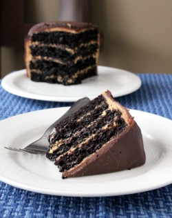 Chocolate Peanut Butter Layer Cake.