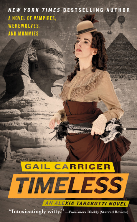 Timeless by Gail Carriger So when was the last time you finished a series and felt completely satisfied by the last book? Oh, yeah. And I guess the series I read before that one ended pretty well. Okay you know what, are there ANY standalone romance novels anymore?  Anyways. That is not the subject at hand. Gail Carriger did a pretty great job with the Parasol Protectorate series. The first book, Soulless, is an exceptionally good paranormal romance. The rest of the books sort of zig zag back and forth between being okay and being GREAT and pretty good and then we've got this one, which is pretty good, but Gail Carriger even when she's not at her best is still a highly enjoyable and amusing read. She writes in highly stylized but very jokey prose, and I probably cracked at least one smile on every page.  In this book, Alexia Maccon, her husband, her daughter Prudence (who is an excellent character, btdubs), and a collection of actors go to Egypt for reasons that are way spoilery. Back in London, all of your old favorites investigate a murder (well, Lord Akeldama mostly watches and says italicsy things). Gail Carriger has always been LGBT-friendly, and I'm happy to share that there's a M/M secondary romance that is very sweet.  The end is a bit of a clusterfuck as Ms. Carriger ties together just about every loose end dangling throughout the whole series, but it's a witty clusterfuck and in the end it's tied up in a big fancy ribbon and served with tea and assorted pastries.  There are no surprises here, but it's light, relaxing reading and an airy finish to a lovely series.