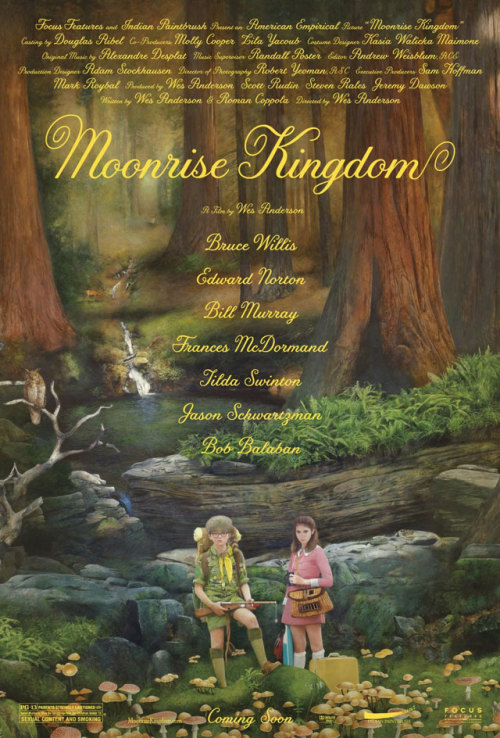 I love this new poster for Moonrise Kingdom, and I can't wait until I actually see the adventures these two go on. -Leanna