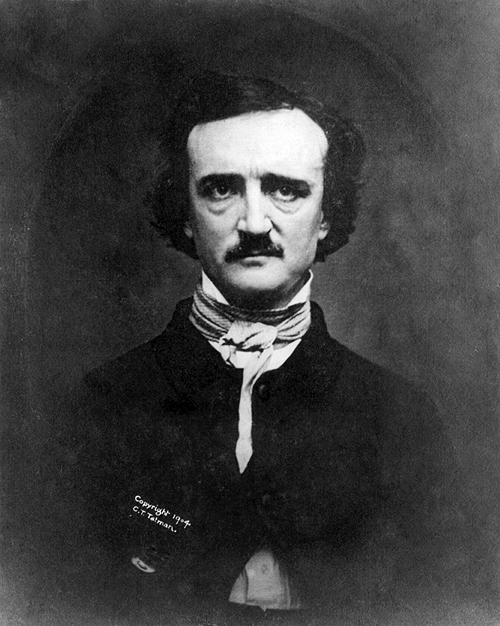 "Sherlock's bedroom Portraits, a Study (1 of 2)EDGAR ALLAN POE 1809 - 1849    - Seen here on Sherlock's wall. As previously mentioned, the portrait of Poe seen in Sherlock's bedroom is a subtle link added to the set by the show's creators in tribute to the original inspiration of the Sherlock Holmes stories. Poe's detective character C. Auguste Dupin was the inspiration for Arthur Conan Doyle's Holmes and is known to be the first ever fictional detective. Sir Arthur described Poe as:  ""the father of the detective tale. [He] covered its limits so completely that I fail to see how his followers can find any fresh ground which they can confidently call their own.""  In the Sherlock Holmes books themselves, Poe's Dupin is mentioned by ACD. In A Study in Scarlet Watson writes:  ""It is simple enough as you explain it,"" I said, smiling. ""You remind me of Edgar Allan Poe's Dupin. I had no idea that such individuals did exist outside of stories."" Sherlock Holmes rose and lit his pipe. ""No doubt you think that you are complimenting me in comparing me to Dupin,"" he observed. ""Now, in my opinion, Dupin was a very inferior fellow. That trick of his of breaking in on his friends' thoughts with an apropos remark after a quarter of an hour's silence is really very showy and superficial. He had some analytical genius, no doubt; but he was by no means such a phenomenon as Poe appeared to imagine.""  If you'd like to read more about the influence Poe's writings had on Arthur Conan Doyle and see a comprehensive comparison of the similarities in both of their texts you can read a wonderful online essay by Drew R. Thomas here: Part One 