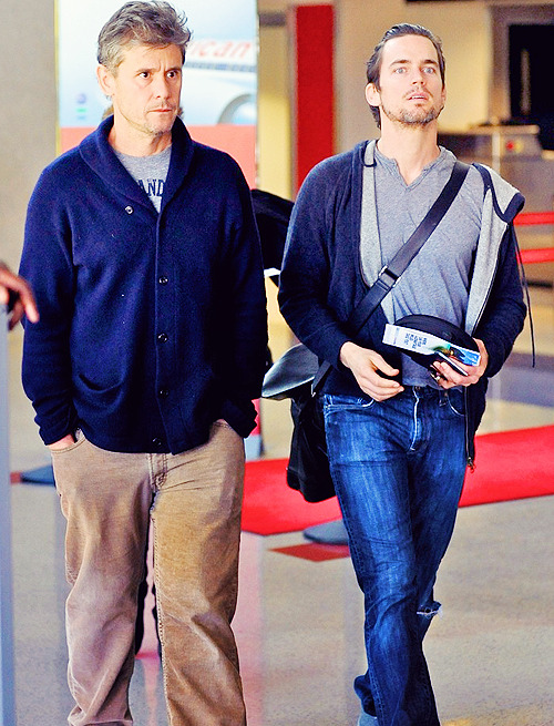 Matt Bomer and Simon Halls -  LAX - Airport March 8, 2012 - (flawless couple)