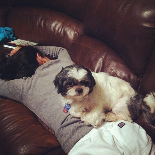 Don't mind vivi sleeping Angelita  (Taken with instagram)