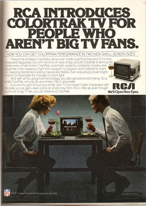 RCA. Ad from Playboy, January 1982.
