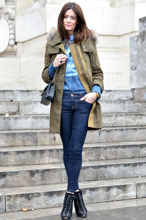 what-do-i-wear:  Hedvig Opshaug wears a Burberry jacket, Céline shirt, and J Brand jeans. (image: elle)