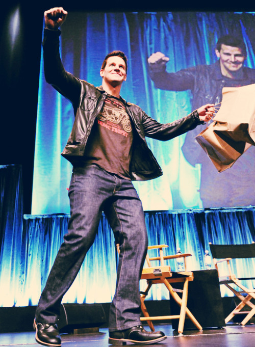 behindbrennanbooth:  David Boreanaz, the king of donuts | Paleyfest 2012