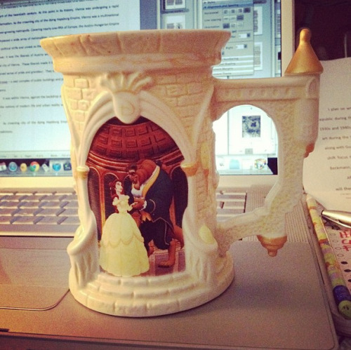 Drinking out of my favorite mug to get me through a 20-page paper writing sesh.