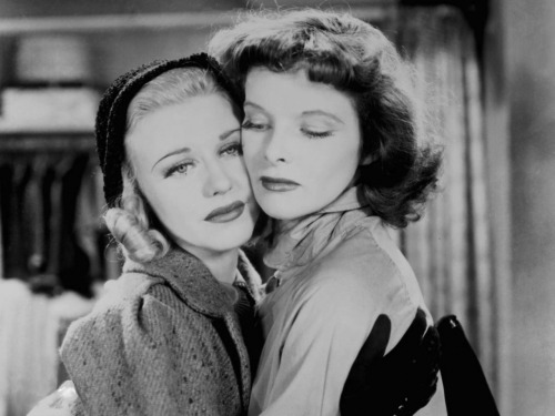 bohemea:  Ginger Rogers & Katharine Hepburn in Stage Door