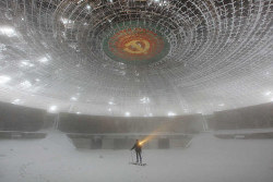 curiositycounts:  Forget Your Past: The Ruins of Buzludzha, a massive Bulgarian monument to CommunismFascinating narrative and unbelievable images of this frozen time capsule of the Soviet era.  (via)
