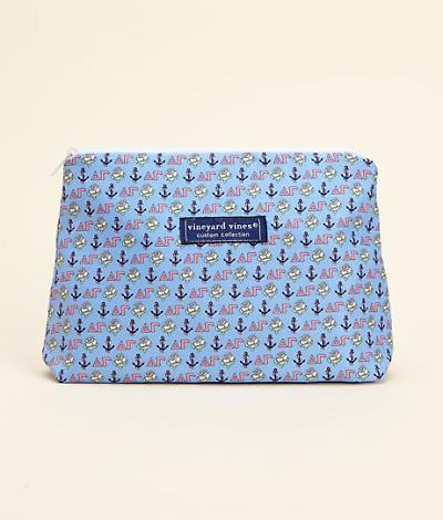 Vineyard Vines Delta Gamma makeup bag.