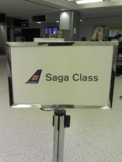 From now on, we only fly Iceland Air - Saga class FTW.