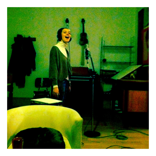 Tracking vocals on a new track with Sarah Buckley. Her project, After Owl, has an EP mixed by Matthan which you can hear here!  http://afterowl.bandcamp.com/