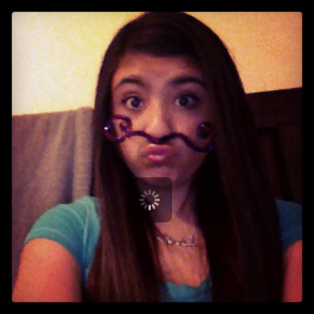 MOUSTACHE.😊💚💜 (Taken with instagram)