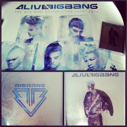 Yay my BigBang album + poster is here! :DD (Taken with instagram)