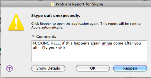 Fuck you skype
