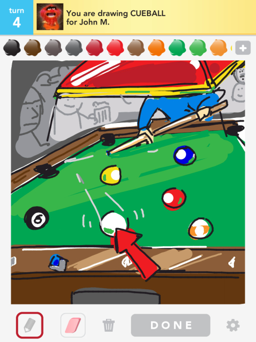 I even scratch in digital drawing billiards. Fail.