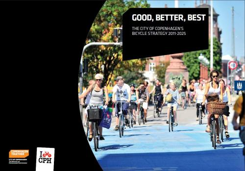 Good, Better, Best – The City of Copenhagen's Bicycle Strategy 2011-2025 - some nice weekend reading!  A bicycle-friendly city is a city with more space, less noise, cleaner air, healthier citizens and a better economy. It's a city that is a nicer place to be in and where individuals have a higher quality of life. Where accessibility is high and there is a short route from thought to action if one wants to head out into nature, participate in cultural or sports activities or buy locally. Bicycle traffic is therefore not a singular goal but rather an effective tool to use when creating a liveable city with space for diversity and development. Fortunately, it pays off to invest in urban cycling. Increased cycling levels give society less congestion, fewer sick days, longer life expectancy, less wear and tear on the roads and less pollution. Cycling initiatives are also inexpensive compared with other transport investments.
