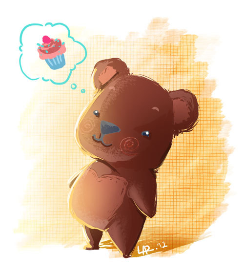 A big hug to this little bear please, and a cupcake too! :)
